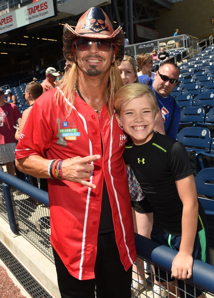 NASHVILLE, TN - JUNE 07:  Singer-songwriter Bret Michaels poses with fan during the 26th Annual City of Hope Celebrity Softball Game at First Tennessee Park on June 7, 2016 in Nashville, Tennessee.  (Photo by Rick Diamond/Getty Images for City Of Hope)