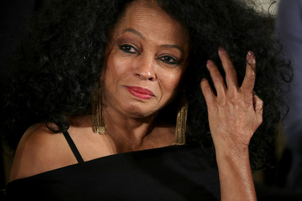 WASHINGTON, DC - NOVEMBER 22:  Popular music icon Diana Ross listens to President Barack Obama before being awarded the Presidential Medal of Freedom during a ceremony in the East Room of the White House November 22, 2016 in Washington, DC. Obama presented the medal to 19 living and two posthumous pioneers in science, sports, public service, human rights, politics and the arts.  (Photo by Chip Somodevilla/Getty Images)
