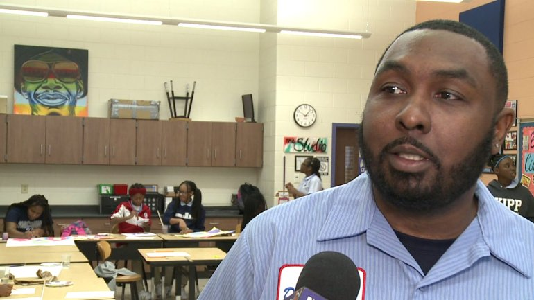 Kenneth Scott, Art Teacher at Kipp Central City Academy (WGNO-TV)
