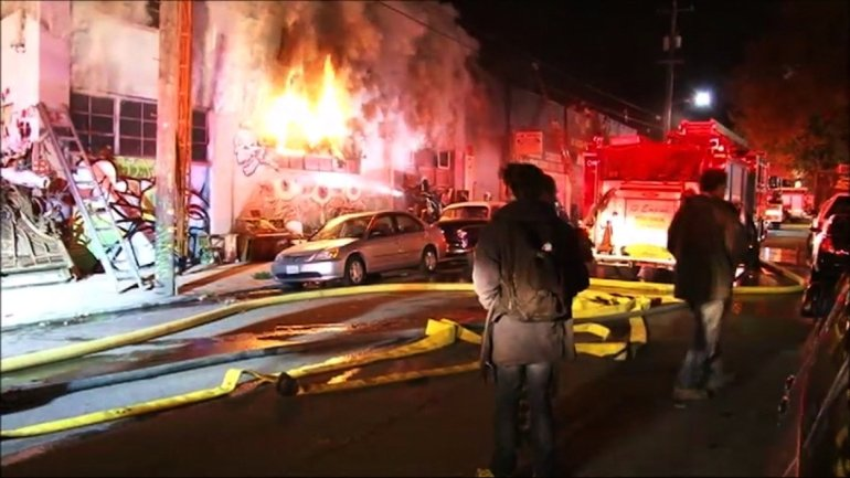 **Embargo: San Francisco-Oakland, CA** Officials say at least nine people are dead and several are missing after a fire at a building in Oakland.