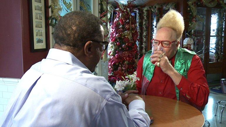 Vince Vance talks to LBJ (WGNO-TV)