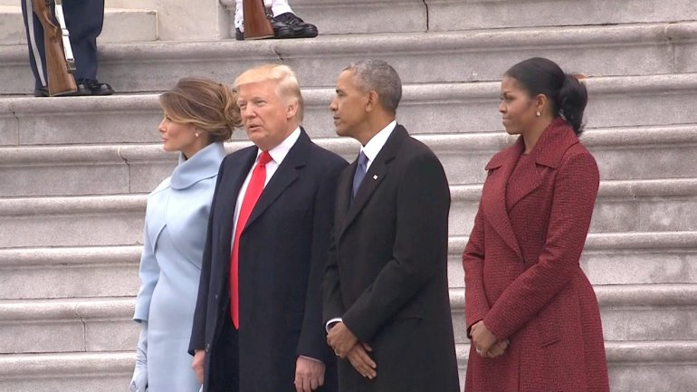 Trump joins to see Obamas depart for joint base andrews