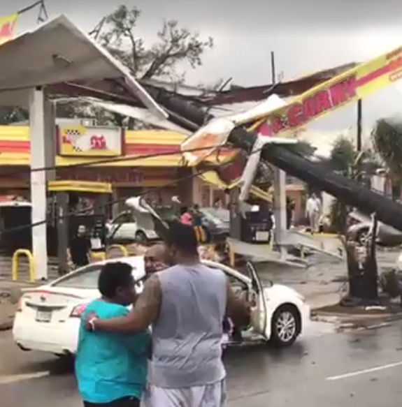 Damage from New Orleans East