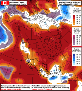 NAEFS Ensemble Temperature Anomaly Forecast