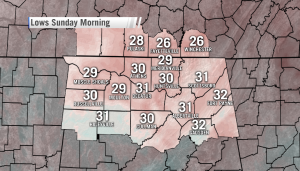 Sunday morning will likely be the first widespread freeze of the season