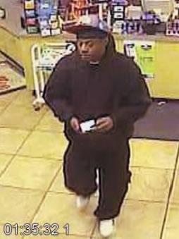 Surveillance photo of suspect (Courtesy: Sheffield Police Dept.)