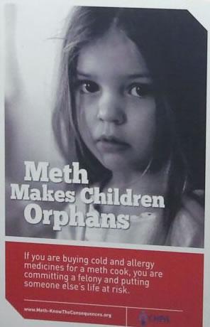 'Meth Makes Children Orphans' poster