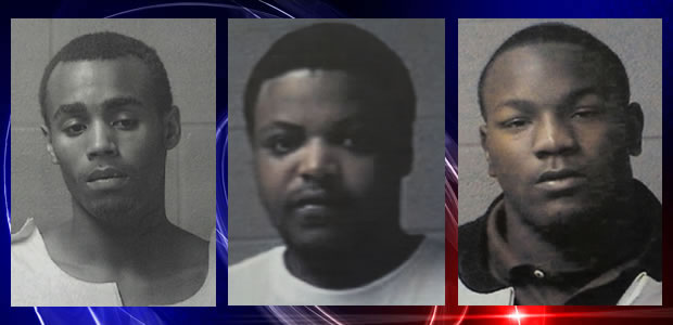 L to R: Damien Shipley, Fernando King and Donte Montgomery. (Photos: Sheffield Police Dept.)