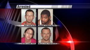Guntersville Police arrested four people Friday morning for the attempted murder of a man shot in a drive-by.