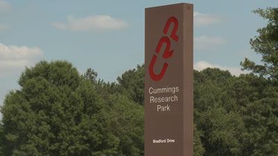 Cummings Research Park is the second-largest research park in the U.S.