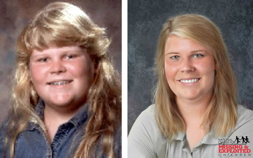 L to R: Haleigh Culwell in 2007 (L) and an age progression image of what she may look like today (R)
