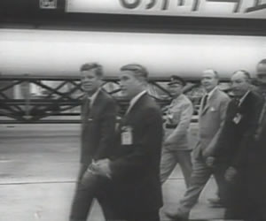 President John F. Kennedy visits Huntsville to meet with Dr. Wernher Von Braun and learn about the rockets he and his team were developing. (Archive Photo)