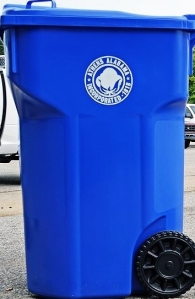 Athens recycling bin. (Photo courtesy: City of Athens)