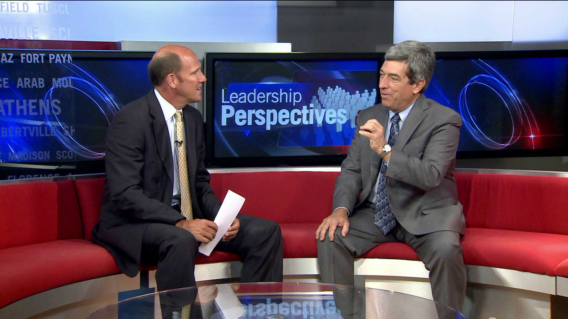 Paul Finley (L) interviews Don Kyle (R) for this segment of Leadership Perspectives. (WHNT News 19)