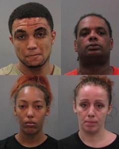 Wendell Hyter Jr. (TL), Lamar Detrick Jones (TR), Krissy Quta Kendall (BL), Auburn Renee Michelle Moore (BR). Photos courtesy Limestone County Sheriffs.