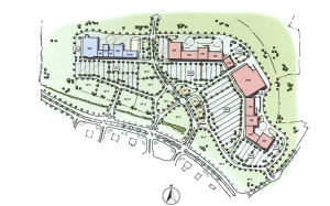 The still-unnamed shopping center being developed by members of the Jones, Blue and Lowe families would cover 126 acres on the north side of Carl T. Jones Drive between Ledges Drive and Aldridge Creek. (Courtesy Raymond Jones Jr.)
