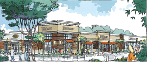 An architect's rendering of a proposed 400,000-square-foot shopping center on the north side of Carl T. Jones Drive in Jones Valley. (Courtesy Raymond Jones Jr.