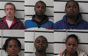 Top row L to R: Linton Brook Spell, Larry Wade White, Lamar Coffey. Bottom row L to R: Denise Lashell Stripe, Roderick Goode, Gabrielle Byrd.