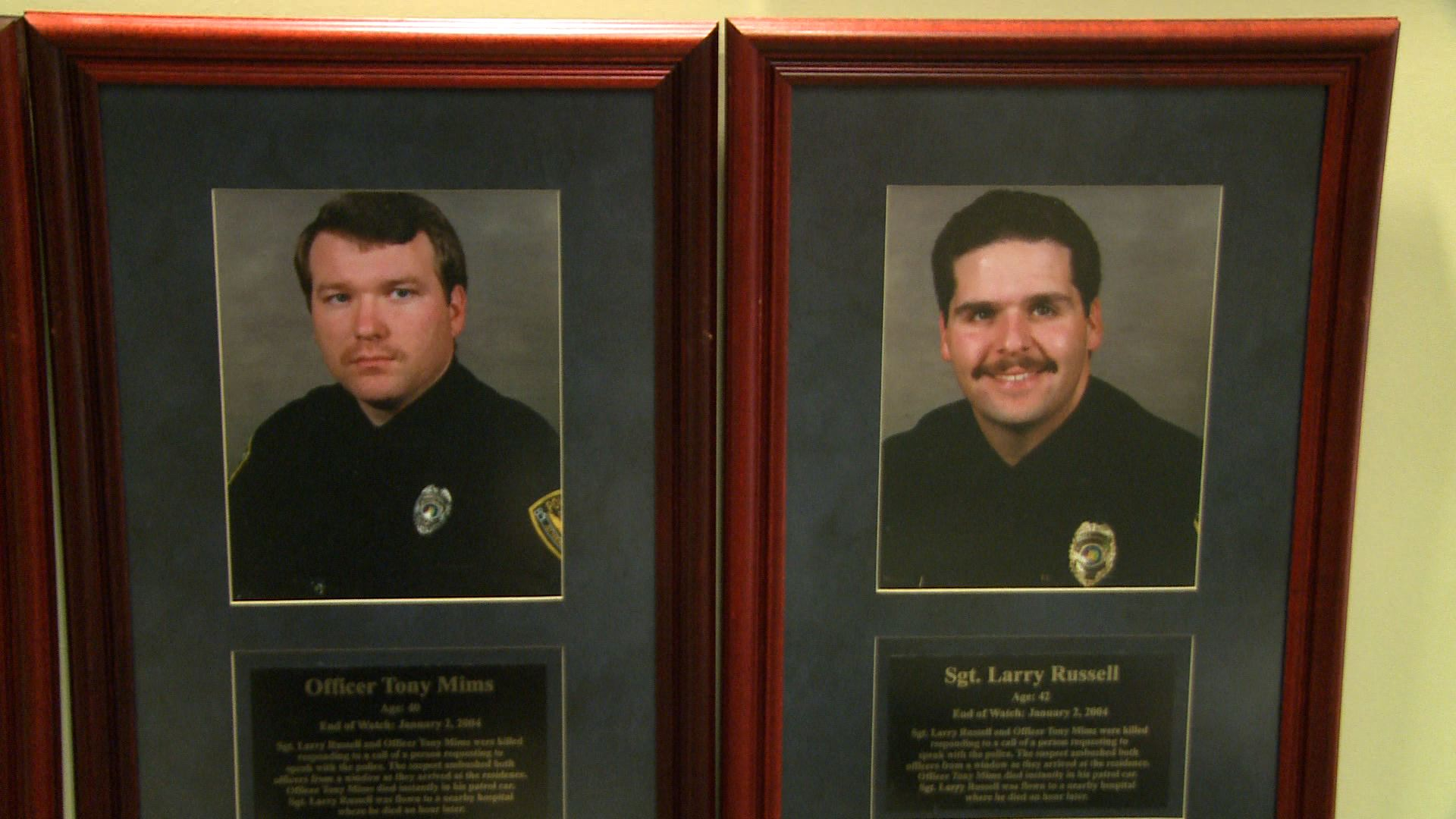 L to R: Officer Tony Mims, Sgt. Larry Russell