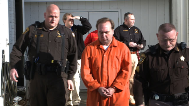 Deputies lead Jeffrey Eddie out of the Colbert County Courthouse on Tuesday, February 18. (Photo: Carter Watkins/WHNT News 19)