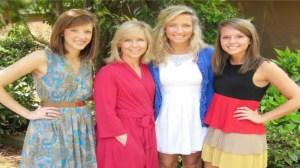 (L-R, Leigh Hayes Matthews, Leslie Vallely, Megan Hayes, Katie Vallely. PHOTO: Megan Hayes, WHNT)