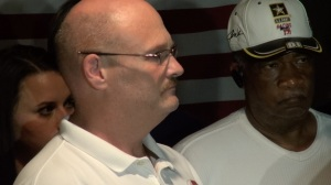 James Robinson looks on during Griffith's primary night candidacy speech. (PHOTO: David Wood, WHNT)
