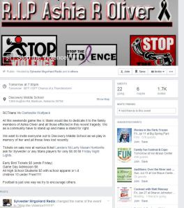 STOP THE VIOLENCE FB PAGE