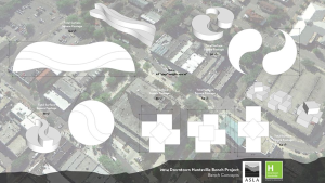 2014 Downtown Huntsville Bench Project (Image Credit: Downtown Huntsville, Inc.)