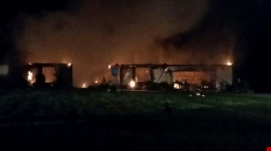 This fire happened about 2:30 a.m. at a home on County Road 372 in Lawrence County. (WHNT News 19)