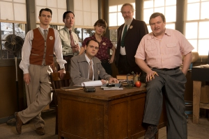 Glen Babbit and his physicist underlings (Photo: WGN America)