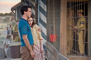 Charlie & Abby Isaacs look to their new fate of secrecy in Los Alamos (Photo: WGN America)