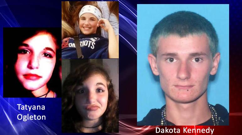 Left: Three recent pictures of Tatyana Ogleton. R: Dakota Kennedy.