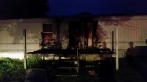 This home on Ball Park Road in Marshall County caught on fire around 4 a.m. Tuesday. (WHNT News 19)