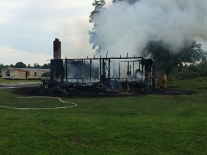 Fire destroyed this home on Pleasant Grove Road in Albertville. (WHNT News 19)