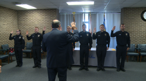 New officers being sworn in. (Photo: Al Whitaker, WHNT News 19)