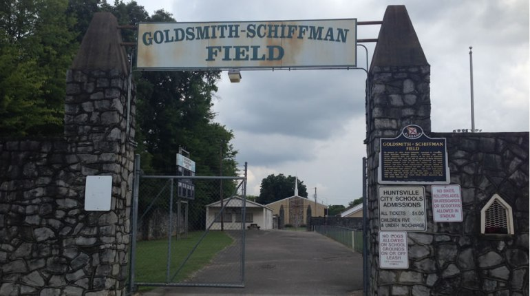 Goldsmith-Schiffman Field is on Ward Avenue in Five Points. (Photo: Shevaun Bryan/WHNT News 19)