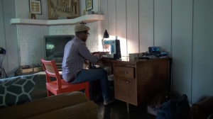 Derrick Ramey fashions hand-crafted men's accessories from his Huntsville living room. (PHOTO: David Wood, WHNT)