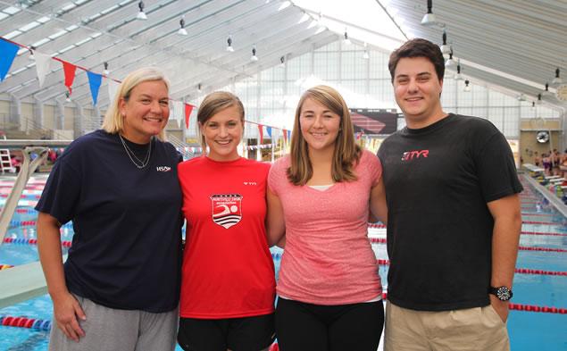 From left: New HSA coaches Susan Swing, Hannah Busk, Stephanie Beddingfield and Cole Jolley. (Photo: Huntsville Swim Association)