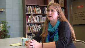 Carrie Turner, Holy Spirit's librarian, was a 5th grader at the school when the tornado hit in November 1989.