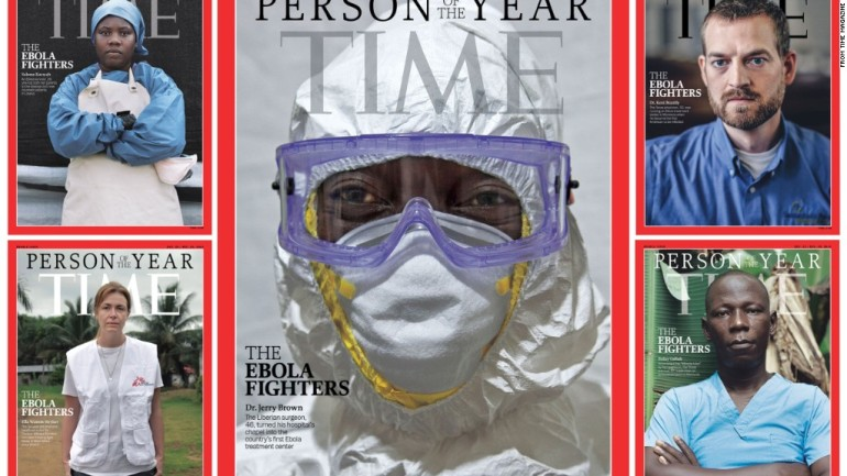 TIME Magazine will produce these five covers to honor Ebola workers. (Images: TIME/CNN)