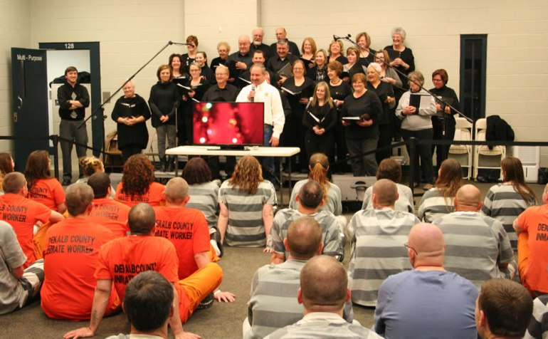 The Sheriff's Church, Nazareth Baptist in Rainsville, performed a Christmas Play for more than 200 inmates at the DeKalb County Detention Center on December 18. (Photo: DeKalb County Sheriff's Office)