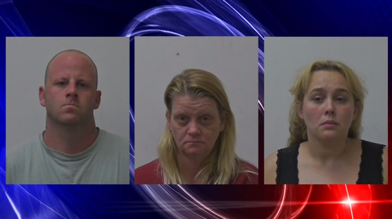 Left to right: Jeremy Jones, Audra Anderson Ikard and Brandy Seagroves (Photos: Madison County Sheriff's Office)
