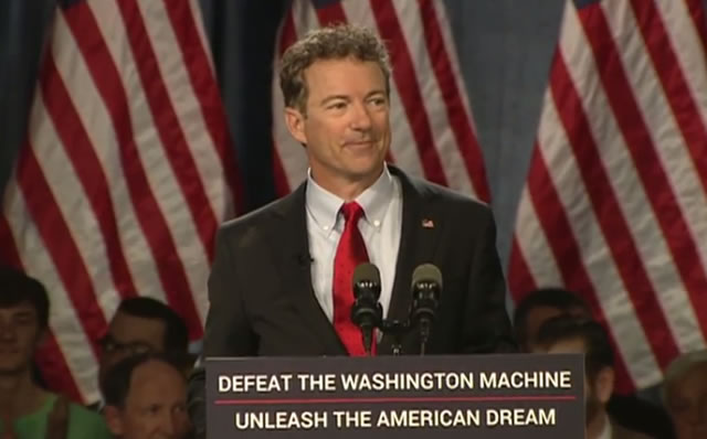 Rand Paul declares he is running for President of the United States. (April 7, 2015)