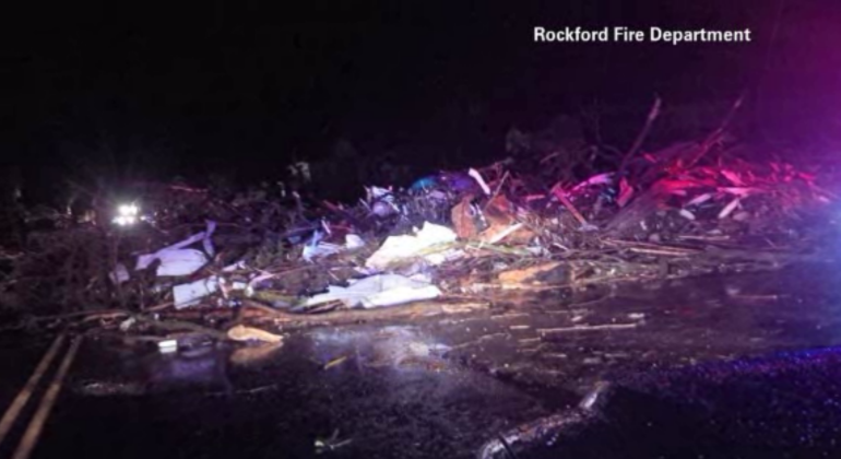 Rockford, IL damage, from Rockford Fire Department