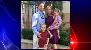 Jonathan McComb and his wife, Laura, and children, Andrew (6) and Leighton (4). (Source: Facebook)