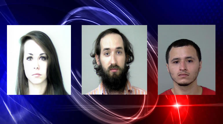 L to R: Bethany McDuffie, Jonathan Allen and Pedro Sierra (Photos; Huntsville Police Department)