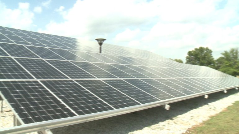 One of the solar frames Avion Solutions added. (Photo: WHNT News 19)