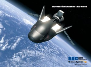 Image of Sierra Nevada Corporation's Uncrewed Dream Chaser and Cargo Module (Copyright 2015 Sierra Nevada Corporation)