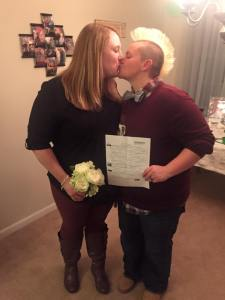 Tracy and Ashley had their marriage legally recognized by the state of Alabama in February. Soon after, they began the adoption process so Ashley would be legally recognized as the twins' parent.