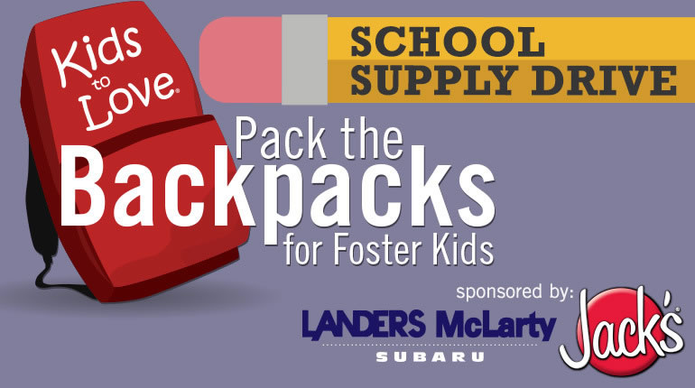Help us pack the backpacks for Kids To Love again this year!